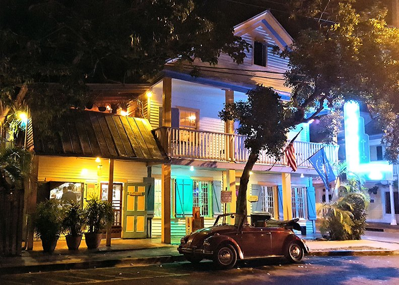 front-night-Blue Heaven Restaurant Key West Florida