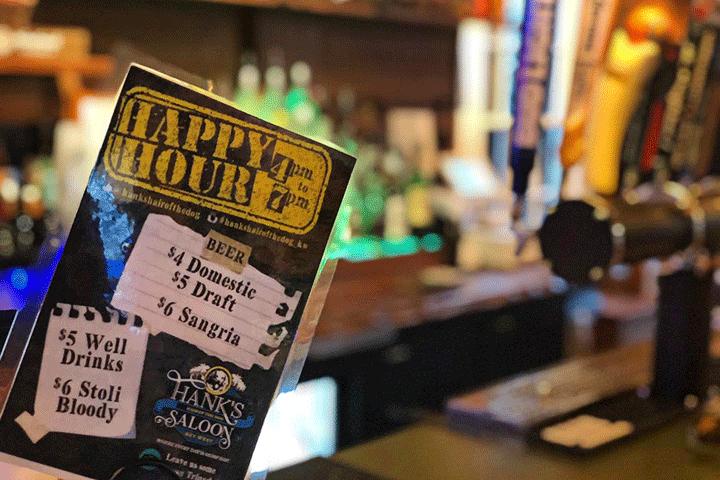 happy hour-Hanks Hair Of The Dog Saloon-Key West Florida